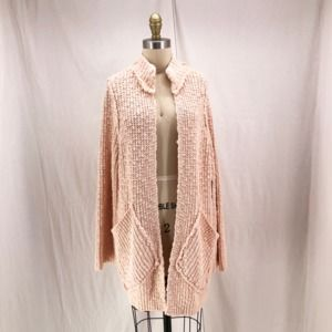 FREE PEOPLE Peach Waterfront Cardigan Sweater